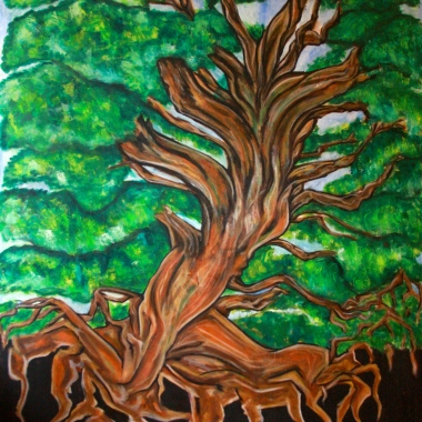 From a tiny seed come forth the roots. The roots emerge from the darkness and form the trunk. The strength and stability of the trunk enables the branches to reach into the Heavens.
